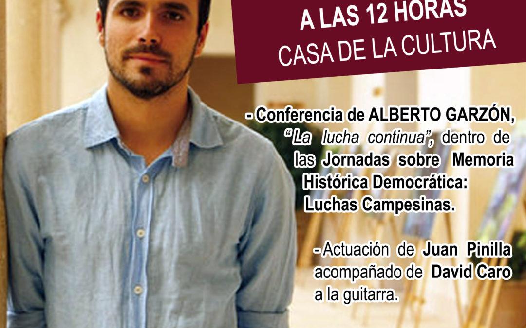CAMBIO DE FECHA: Conferencia de Alberto Garzón