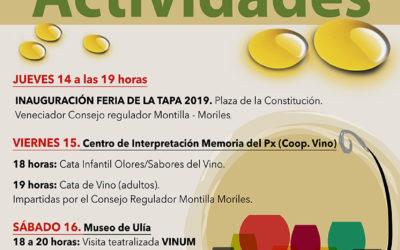 Actividades Feria de la Tapa 2019