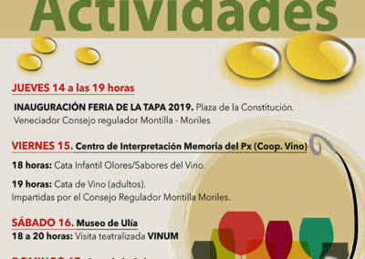 Actividades Feria de la Tapa 2019 1