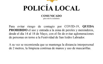 Comunicado Policia Local