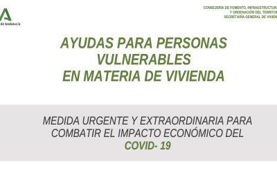 Ayudas para personas vulnerables en materia de vivienda