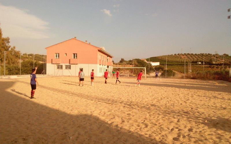 Pista de fútbol playa