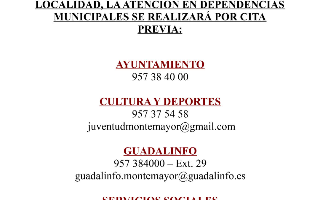 Atención Cita previa dependencias Municipales