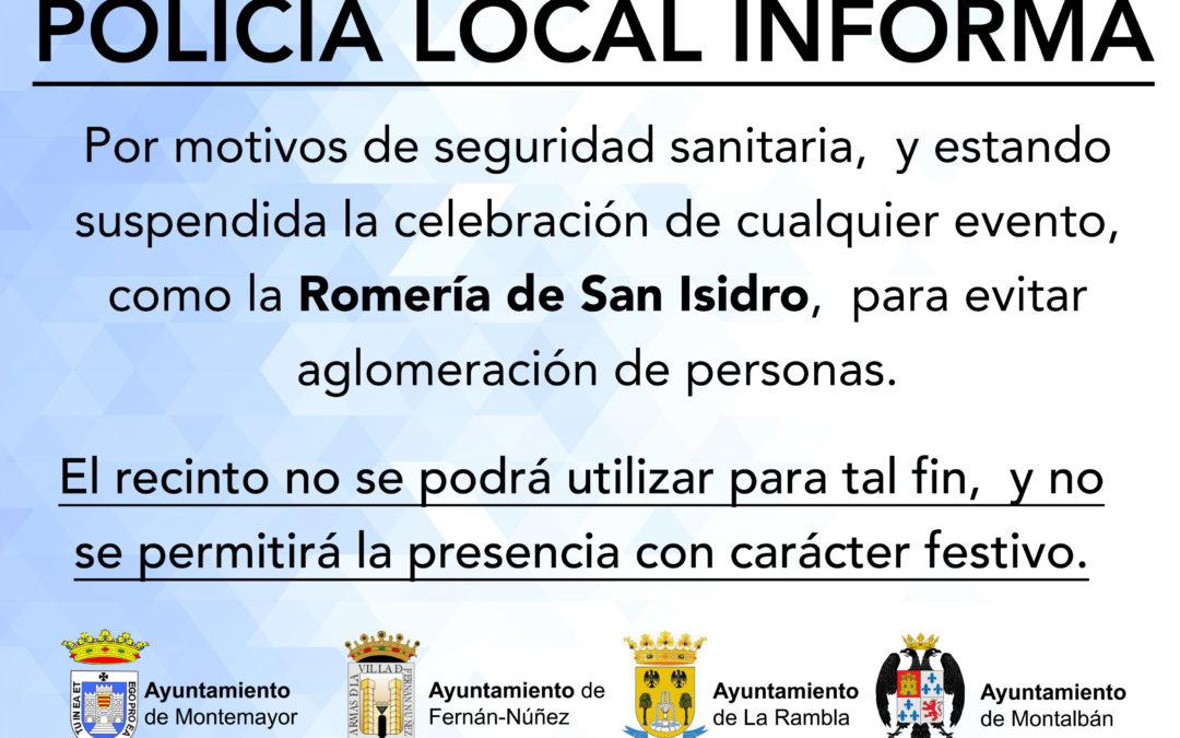 COMUNICADO ROMERÍA SAN ISIDRO 2021