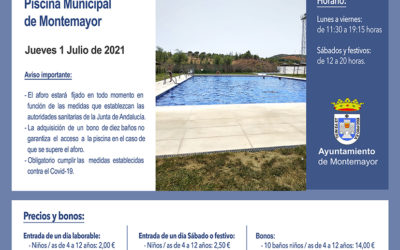 Apertura piscina municipal 2021